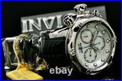 New Invicta Men 52MM SEA DRAGON Venom White MOTHER OF PEARL Dial Chrono SS Watch
