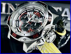 New Invicta Men 52MM VENOM HYBRID Gen III Red/Black Dial Chrono SS Strap Watch