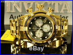 New Invicta Men 52mm 18K GP High Polished Stainless St Bolt Zeus Chrono Watch