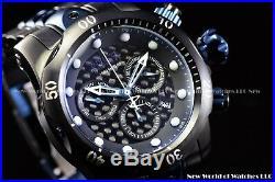 New Invicta Men 52mm Reserve Venom Swiss Chrono Black Poison SS 1k Diver Watch