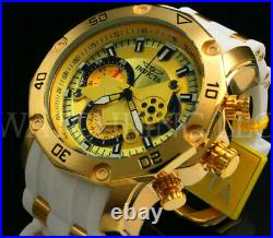 New Invicta Men Pro Diver Scuba 3.0 Chrono 18K Gold Plated Gold Dial Poly Watch