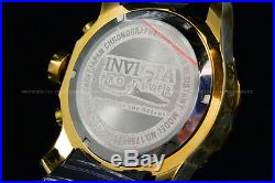 New Invicta Men Scuba Pro Diver Chrono 18K Gold Plated Gold Dial SS Poly Watch