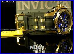New Invicta Men Scuba Pro Diver Chronograph18K GP Stainless Steel 100M Watch