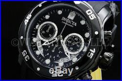 New Invicta Men Scuba Pro Diver Swiss Chrono Gunmetal Black Dial S. S Poly Watch