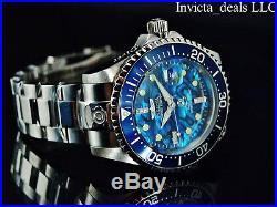 New Invicta Men's 300M DIAMOND Grand Diver Automatic Ltd Ed Blue Abalone Watch