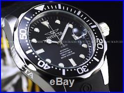 New Invicta Men's 47mm GRAND DIVER NH35A Automatic Black Dial Rubber Strap Watch