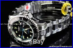 New Invicta Men's 47mm Grand Diver Automatic Black Dial Silver Case SS Watch