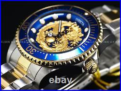 New Invicta Men's 47mm Grand Diver Dragon Automatic Two Tone 18KGP 100M SS Watch