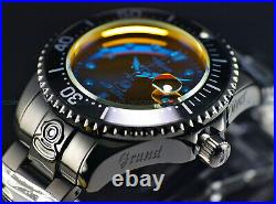 New Invicta Men's 47mm Grand Diver RADAR AUTOMATIC Tinted Crystal Black SS Watch