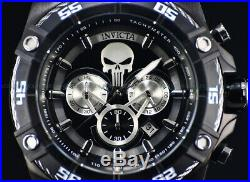 New Invicta Men's 52mm Ltd. Ed Marvel Punisher Chrono Black Silver Viper SS Watch