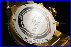New Invicta Men's 52mm Pro Diver COMBAT SEAL 18 K Gold Plated Chrono S. S Watch