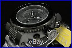 New Invicta Men's 52mm Pro Diver COMBAT SEAL Gunmetal/Black Chrono S. S Watch