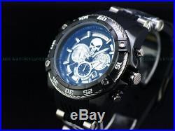 New Invicta Men's 54mm Ltd. Ed Marvel Punisher Chrono Black Silver Viper SS Watch