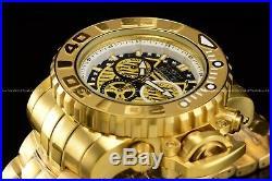 New Invicta Men's 70mm Full Sea Hunter III Swiss Movement 18K Gold Plated Watch