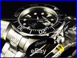 New Invicta Men's Classic 47mm Grand Diver 300M Automatic Black Dial SS Watch