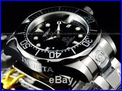 New Invicta Men's Classic 47mm Grand Diver 300M Automatic Black Dial SS Watch