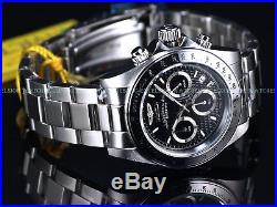 New Invicta Men's Pro 200M Speedway Japan Chronograph Textured Blk Dial SS Watch