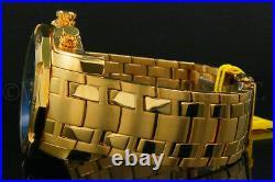 New Invicta Men's Pro Diver Scuba 3.0 Chrono 18K Gold Plated Blue Dial S. S Watch