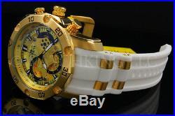New Invicta Men's Pro Diver Scuba 3.0 Chrono 18K Gold Plated S. S Poly StrapWatch