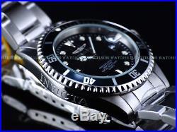 New Invicta Mens 200M Original Coin Edge Bezel Pro Diver Quartz Black Dial Watch