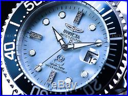 New Invicta Mens 300M Diamond Grand Diver Automatic Lim. Ed. Platinum MOP Watch