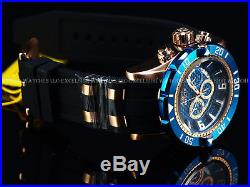 New Invicta Mens 50mm Pro Diver Chronograph 18K Rose Gold Blue Dial Watch 23713