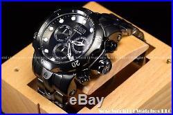 New Invicta Mens 52mm Reserve Venom Swiss Chrono Black Ashes SS 1k Diver Watch