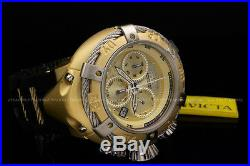 New Invicta Mens Reserve 18k Gold Plated S. S Swiss Chrono Thunder Bolt Watch