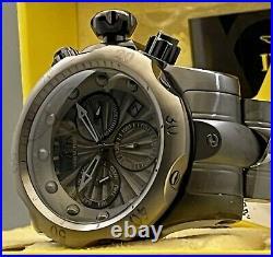 New Men Invicta Venom 54mm SS Gunmetal Dail & Bezel Swiss MVT Chronograph Watch