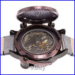 New Men's Invicta 16365 Russian Diver Swiss Mechanical Silver Dial Leather Watch
