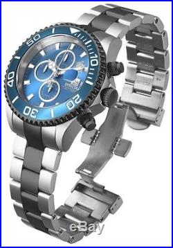 New Men's Invicta 18004 Sea Base Swiss Chrono Blue Dial Two Tone Steel Watch