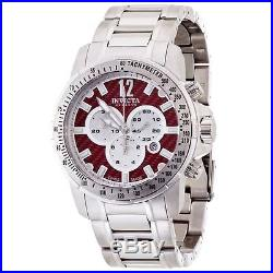 New Mens Invicta 0347 Speedway Chronograph Red Carbon Dial Swiss Made Watch
