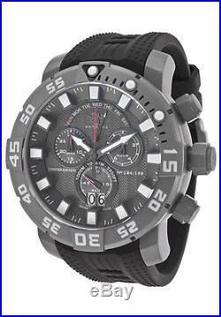 New Mens Invicta 14248 Sea Base Swiss Chronograph Polyurethane Rubber Watch