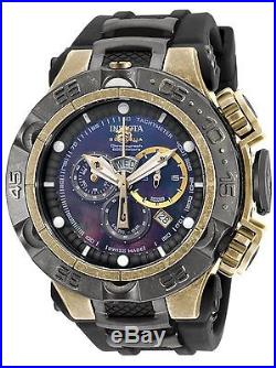 New Mens Invicta 18177 Subaqua NOMA V Chronograph Black Rubber Strap Watch