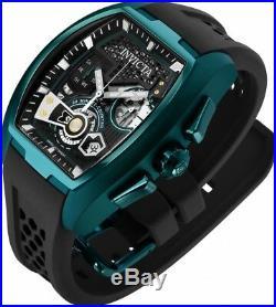 New Mens Invicta 25942 Tonneau Diablo Swiss Chronograph Silicone Strap Watch