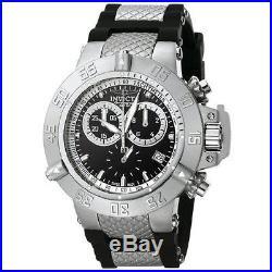New Mens Invicta 5511 Subaqua Noma Swiss Made Chronograph Black Watch