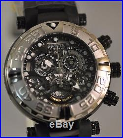 New Mens Invicta Cruise Line Subaqua Swiss Chronograph Skeleton Black Dial Watch