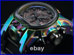 RARE Invicta Reserve Mens 52mm Bolt Zeus MAGNUM Swiss Chrono Dual Time SS Watch
