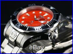 Rare Invicta Men's 47mm Grand Diver Automatic Bright Orange Dial NH35 SS Watch