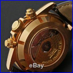 Rare Invicta Solid 18K Rose Gold Automatic 7750 Man's Chronograph Watch, 29/100