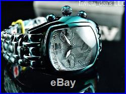 Rare New Invicta Men Dragon Lupah Swiss Chronograph High Polished Green SS Watch